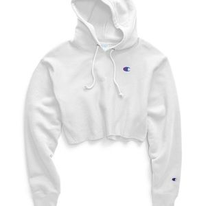 cropped white champion hoodie NWT